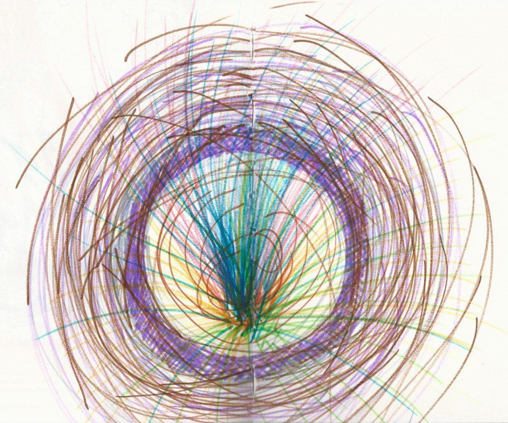 dessin automatique contrainte représentée comme un nid