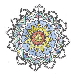mandala in doodle style