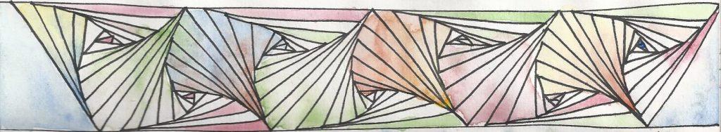 Frise zentangle coloriée